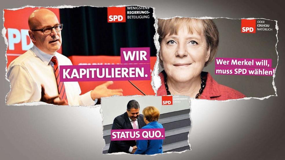 Es gibt bereits erste satirische Wahlplakate für die SPD. (Foto: Der Postillion)