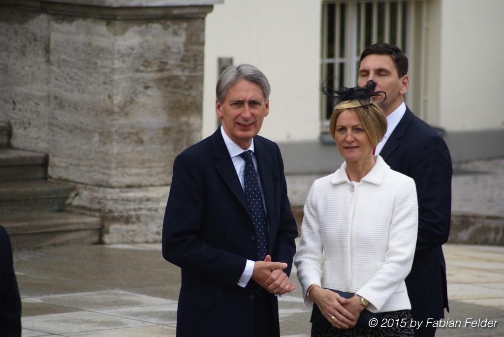Der britische Außenminister Philip Hammond und seine Frau Susan gehören zur Delegation während des Staatsbesuchs.